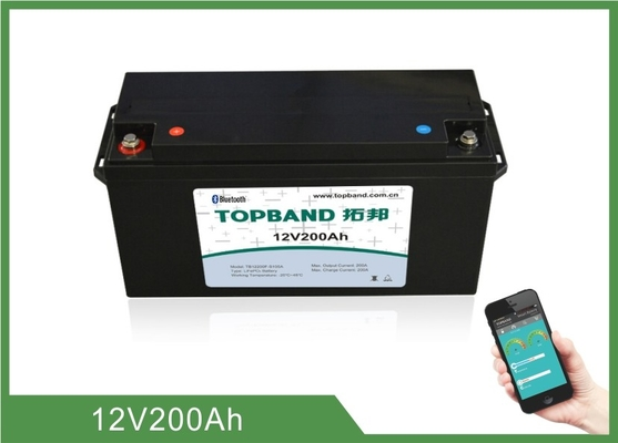 High Rate Discharge 12V 200Ah Bluetooth Lithium Battery Lifepo4 Cells