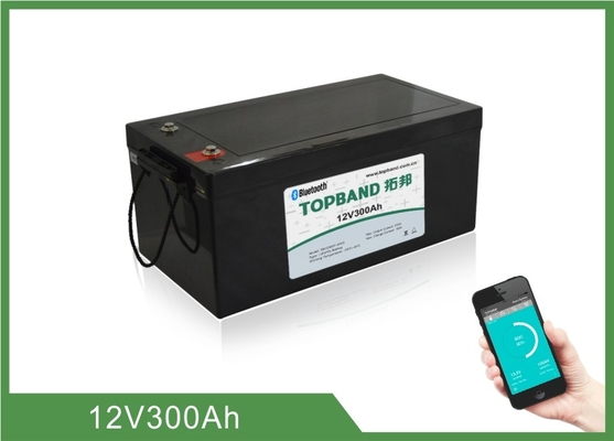 Home Energy Storage Battery 12V300Ah  , 150 ~ 200A Discharge , 4pcs In series For 48V